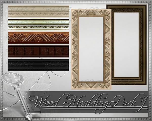 Wood Moulding Pack 1 - 56 Textures - $5.00