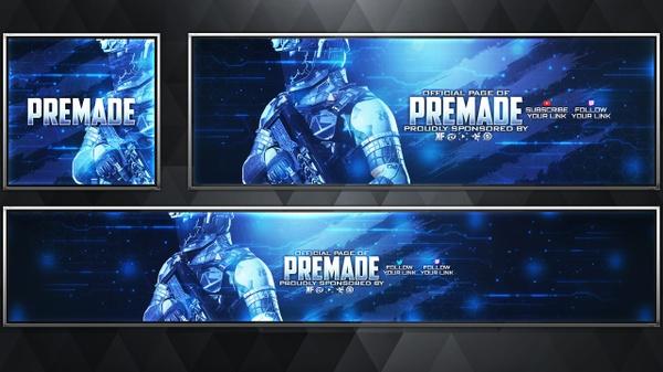 Warfighter - Infinite Warfare - Social Media Revamp Pack V19 - Photoshop Template