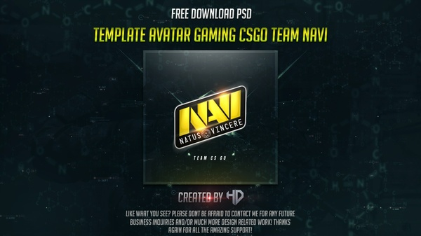 Template avatar/profile Gaming Csgo Team Navi Free Download