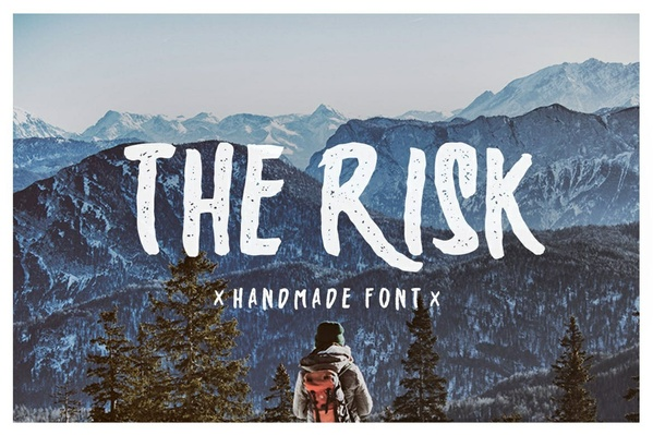 The Risk - Handmade font