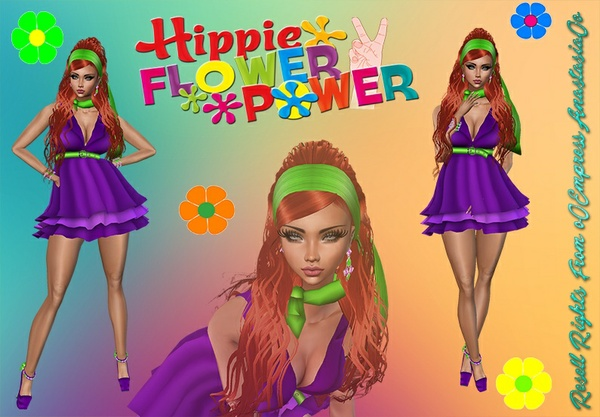 Hippie Flower Power Bundle No Resell 0/3 People Limited