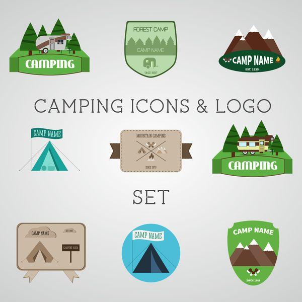 9 Travel & Camping Editable Logos