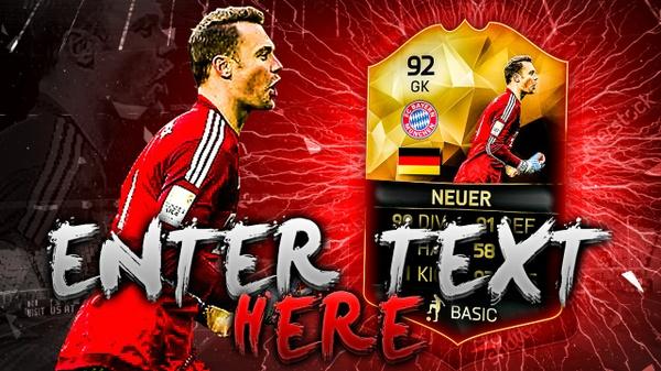 FIFA 16 Neuer Thumbnail Template TOTW 25