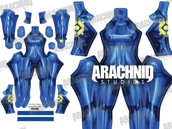 Samus Zero Suit (Navy) Dye-sub pattern