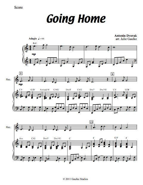 Going Home with mp3 accompaniment track