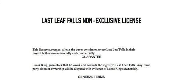 Emotional Piano - Last Leaf Falls License