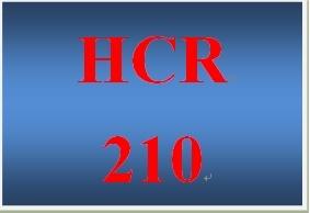 HCR 210 Week 4 Career Self-Reflection I