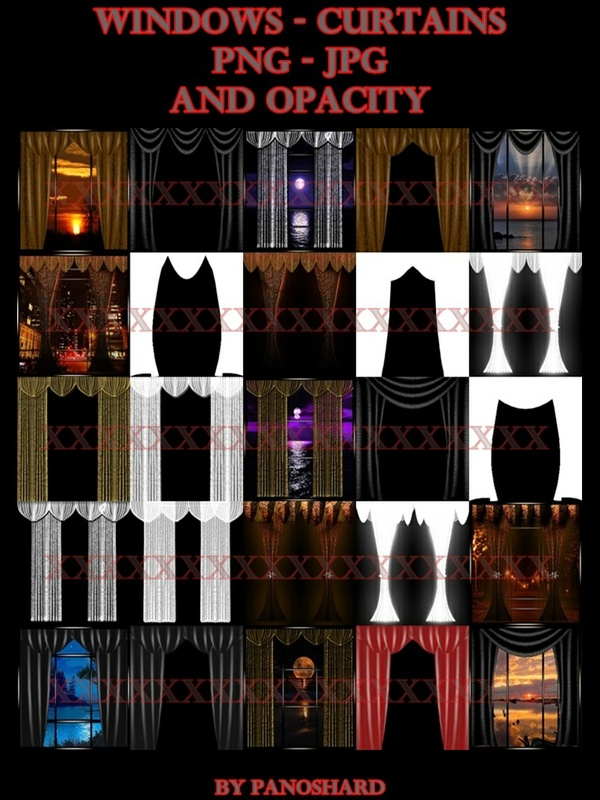 windows - curtains - png - jpg - and opacity