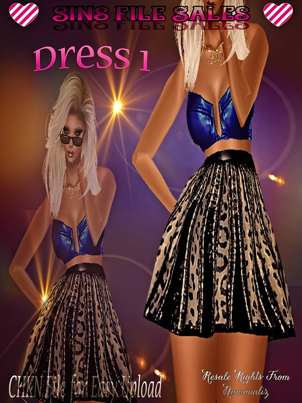 Dress 1 *CHKN Included ( Click for Purchase Link $1.25)