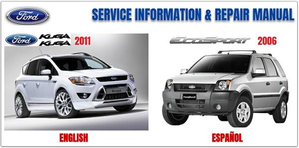FORD KUGA 2011 & ECOSPORT 2006 WORKSHOP MANUAL
