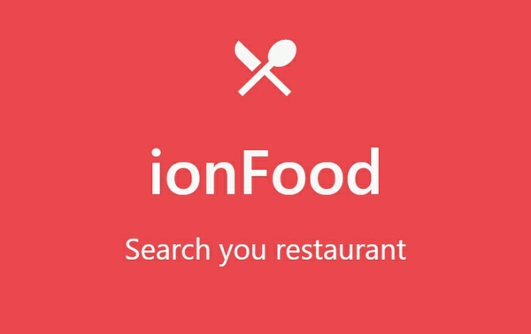ionFood - Restaurant finding hybrid app