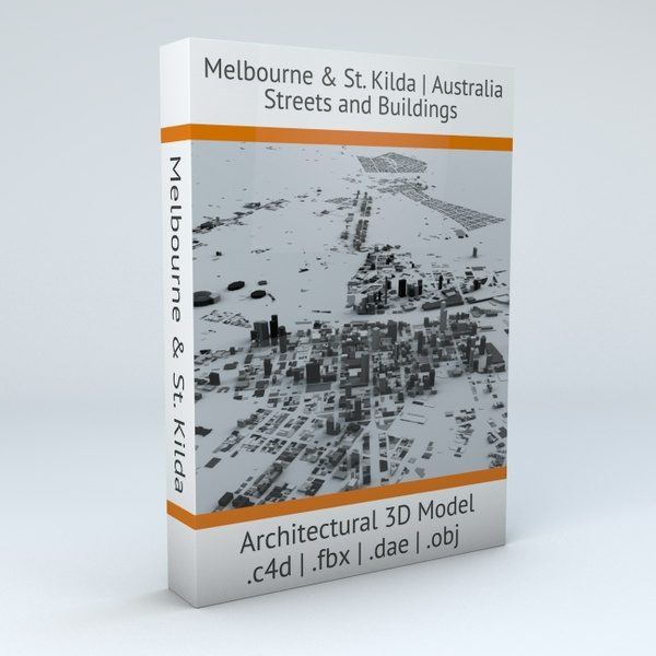 Melbourne Streets and Buildings Architectural 3D Model