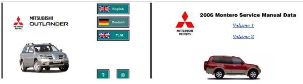 Mitsubishi Outlander & Montero 2006 Factory Service Manual