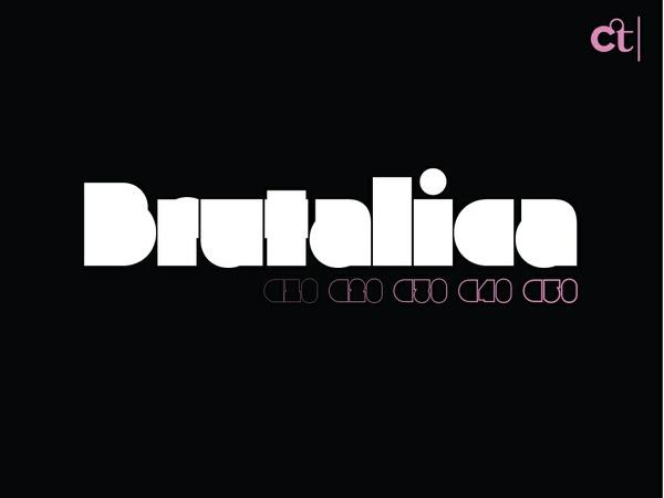 Brutalica Typeface - Full & C10-C50 (Six Styles)