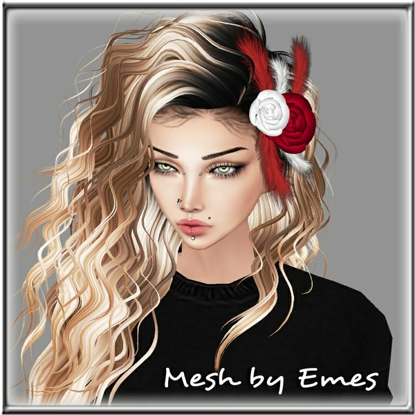 FLOWERS & FEATHERS MESH