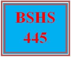BSHS 445 Week 3 Case Scenario Response