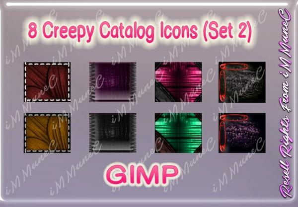 8 Creepy Catalog Icons (Set 2) GIMP (Halloween)