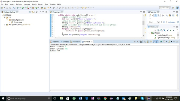 Create a program that gets a number from a user Solution