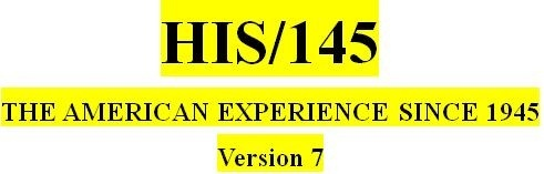 HIS 145 Week 4 Modern America Matrix: 1970s