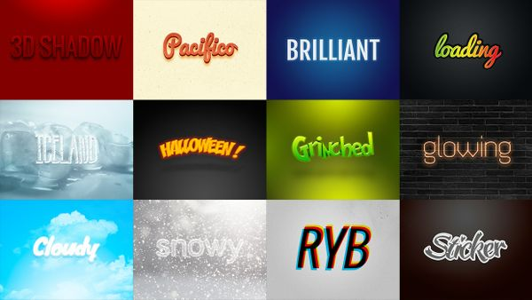 14 Photoshop Professional text effects / 14 efectos profesionales de texto para Photoshop