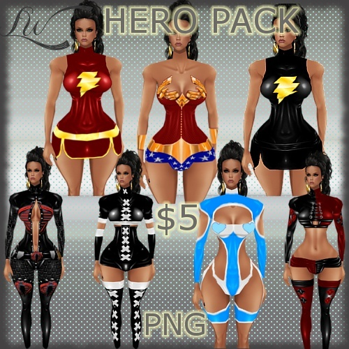 Hero Pack-7 OUTFITS