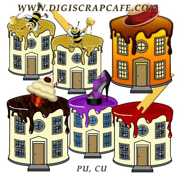 Fun House CU Template Kit