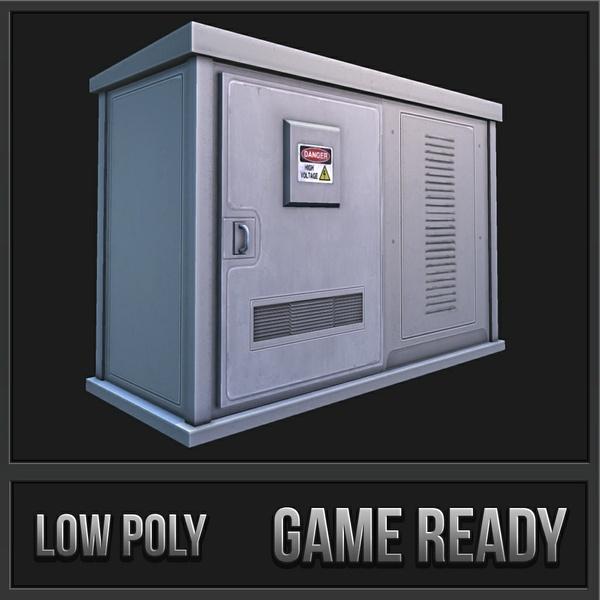 Electronic Box 2 | 3D Low Poly Model