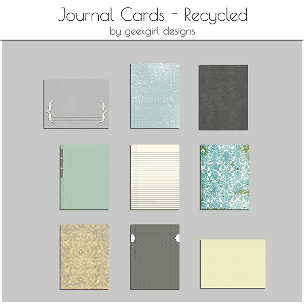 Recycled Journal Card by geekgirl designs