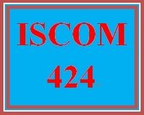 ISCOM 424 Week 5 Supplier Performance Improvement Plan