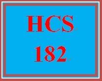 HCS 182 Week 1 Financial Concepts Worksheet