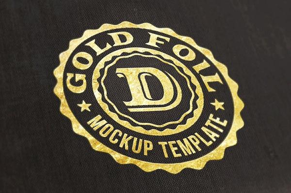 Logo/Text Mock-up – Gold Foil