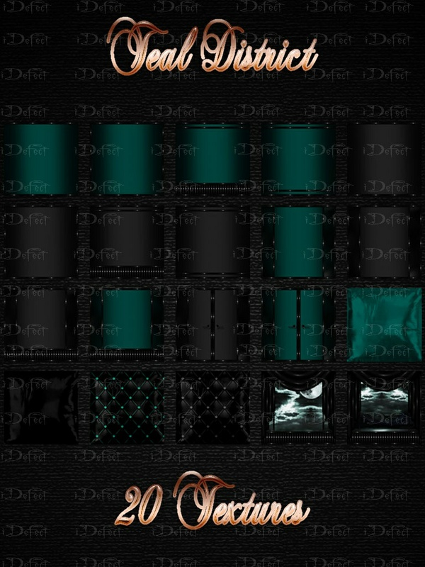 Teal District Room Texture