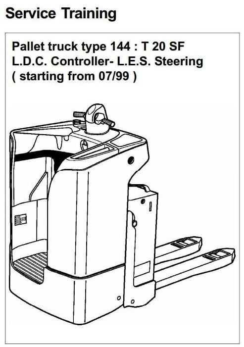 Linde Pallet Truck Type 144: T20SF Service Training (Workshop) Manual
