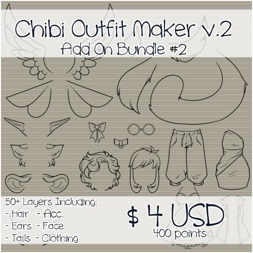 Chibi Outfit Maker v.2 Add On Bundle #2
