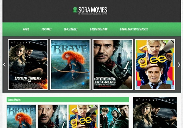 Sora Movies Blogger Template Premium Version