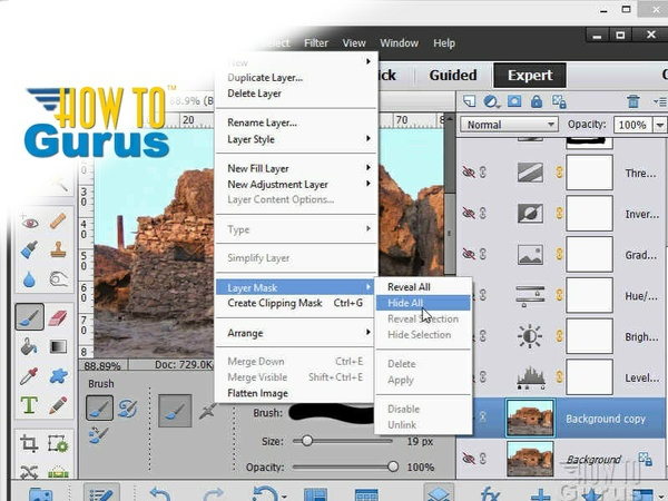 How to use Adobe Photoshop Elements 13 Layer Masks - a Photoshop Elements 13 Tutorial