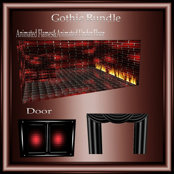 Gothic Mesh Bundle No Resell!! 1 Room& 10 Furniture,1 Sitting Pose!!