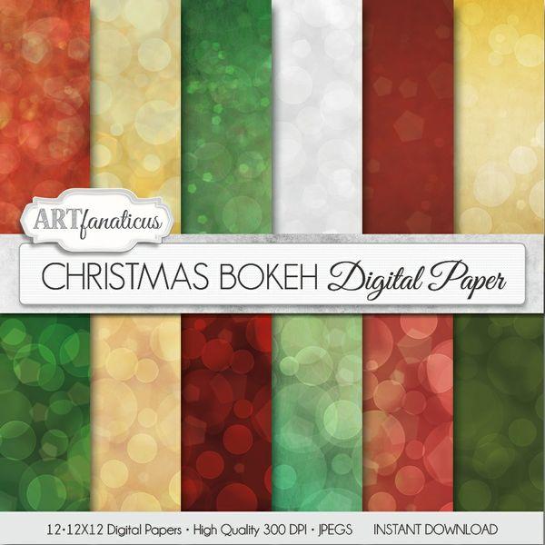 CHRISTMAS BOKEH - DIGITAL PAPER