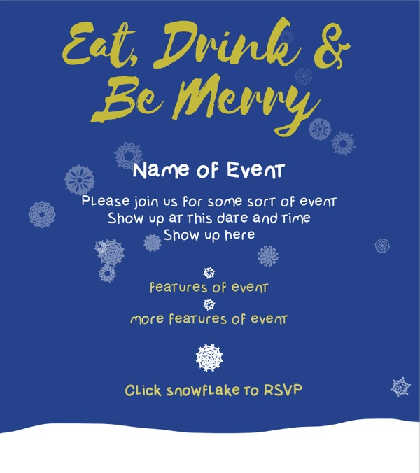 Animated PDF Template-Snowflake Invitation+Bonus font