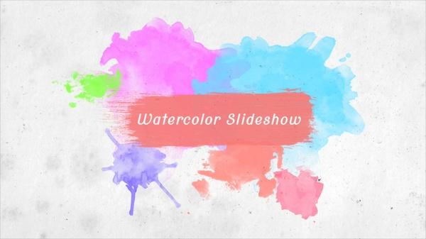 Vegas 12/13/14 Template——Watercolor slideshow