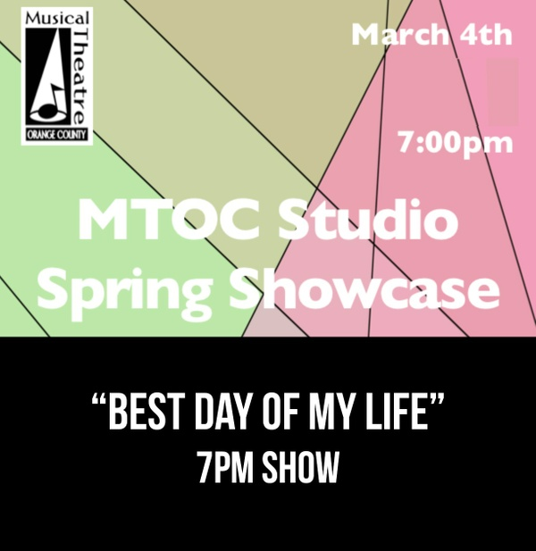 """Best Day of My Life"" – American Authors     From the 7PM 3/4/17 MTOC Spring Showcase"