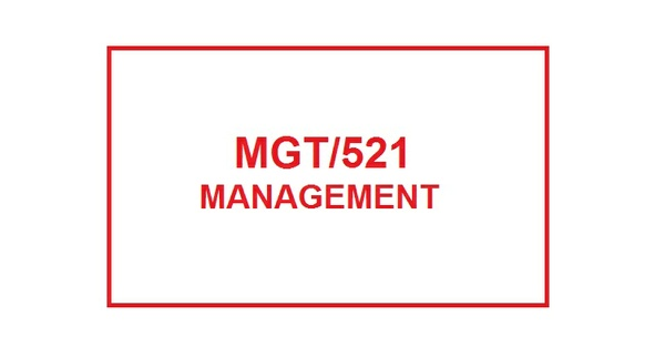 MGT 521 Week 5 Team Leadership