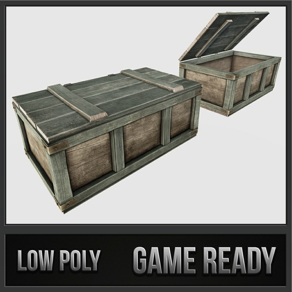 Wooden Loot Crate | 3D Low Poly Model