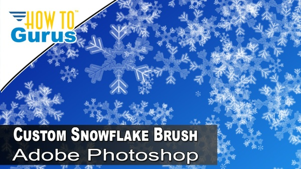 How to Make Custom Photoshop Brushes : Create a Snowflake Brush in CC 2018 CS6 CS5 Tutorial
