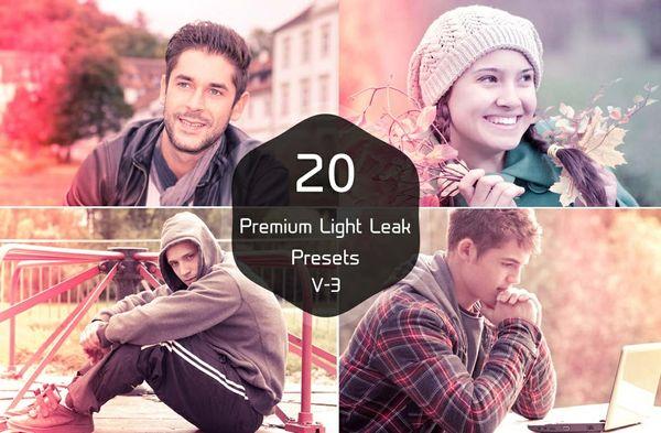 20 Premium Light Leak Presets V-3