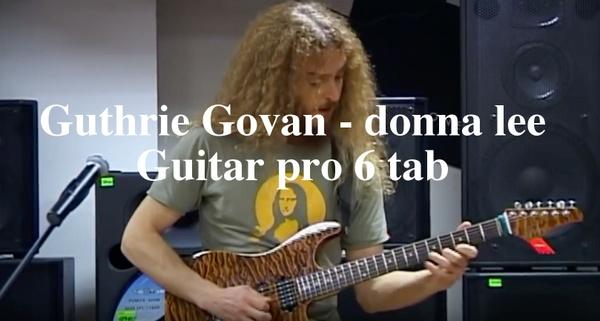 Guthrie Govan - Donna Lee v2 guitar pro 6 tab