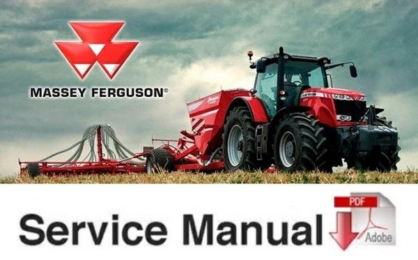 Massey Ferguson MF 8100 Series MF-8110, MF-8120, MF-8130, MF-8140, MF-8150, MF-8160 Tractors SM