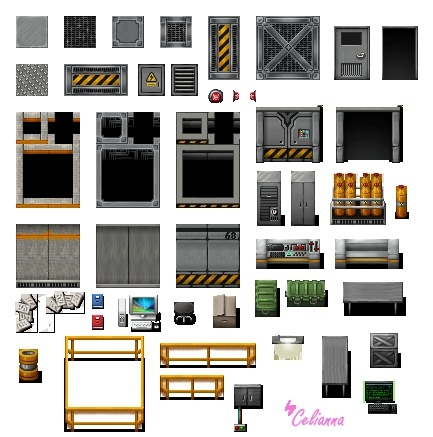 "Celianna's Parallax Tiles ""Science Lab"""