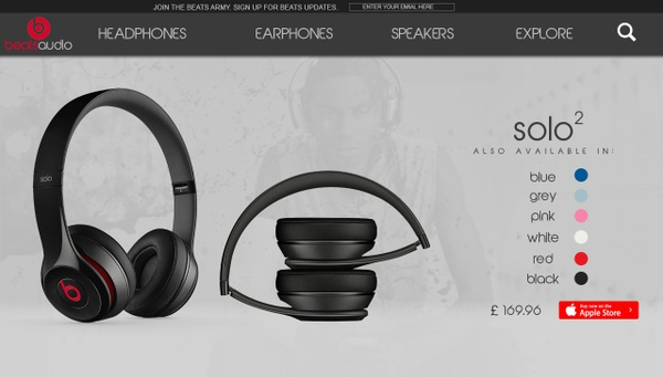 Beats Website Advertisement PSD File
