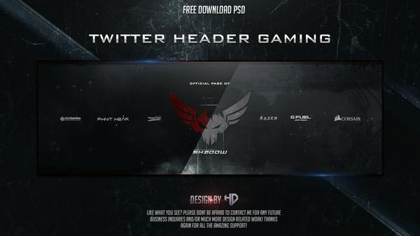 Template Twitter Header Gaming Free Download By Houssem Designer